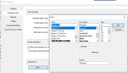 IDEA Options - Font Settings Dialog