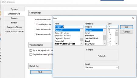IDEA Options - Font Settings Dialog