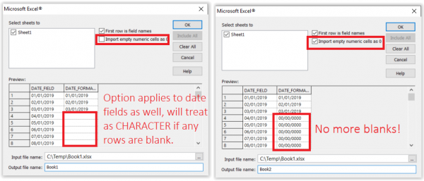Import Assistant - Option to Import Empty Cells as 0