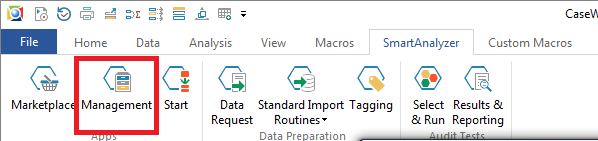 SmartAnalyzer Ribbon - Management Icon